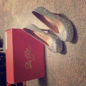 Sparkly sky high heels